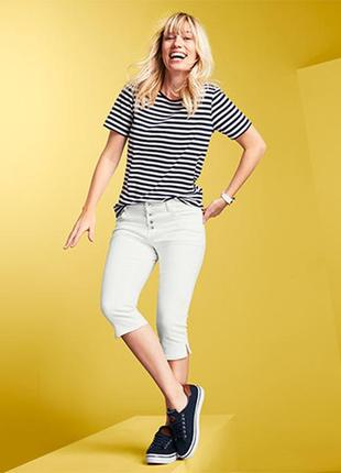 Плотные джинсовые капри tchibo. xl,xxl.