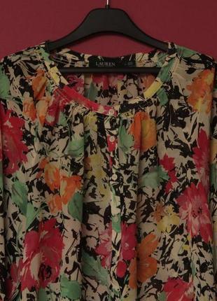 Polo ralph lauren рр l блуза в цветочный принт
