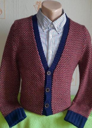 Шикарный шерстяной кардиган mills brothers vintage apparel оригинал, молниеносная отправка