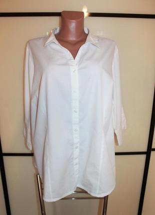 Идеальная базовая белая рубашка приталенного силуэта capsule uk 24 eur 52 на 56-58 р