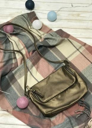 Бронзовая милая сумка кросс-боди h&m