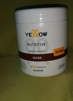 Восстанавливающая маска для сухих и поврежденных волос yellow nutritive mask, 1000 мл