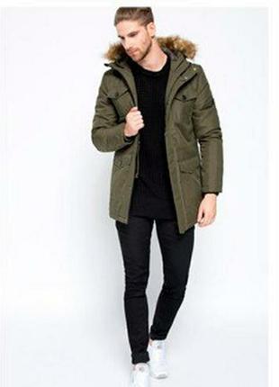 Классная мужская куртка,  парка, демисезонная размер l и   xl