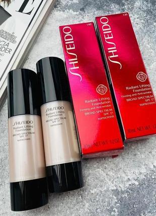 Тональный крем shiseido radiant lifting foundation spf 17