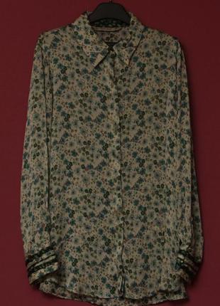 Zara m рубашка стелящаясся цветочный принт