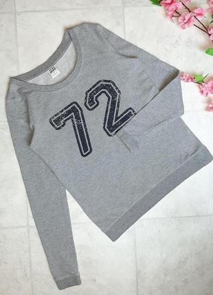 1+1=3 стильный черный свитер свитшот логнслив с цифрами vero moda, размер 42 - 44
