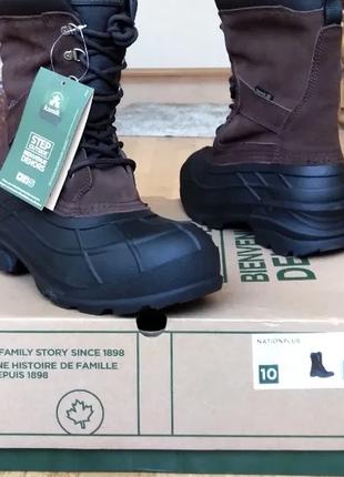 """Сапоги ботинки теплые мужские """"kamik nation plus"""" зимние снегоходы, us10"""