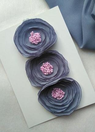 Повязка для девочки шифоновые цветы