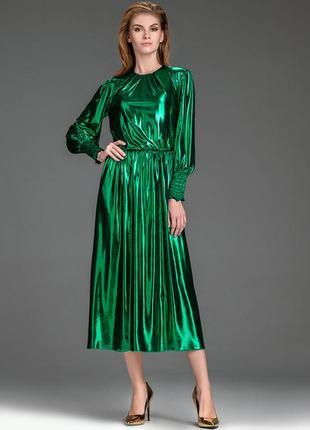 Шикарное платье металлик