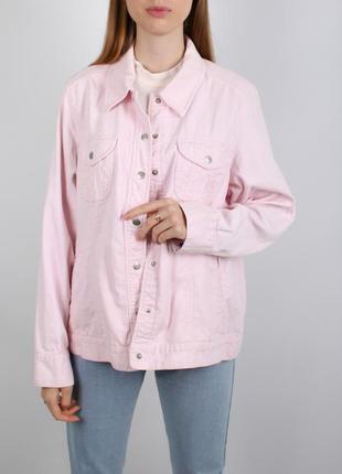 Розовая винтаж нежная вельветовая куртка жакет рубашка пиджак cecil