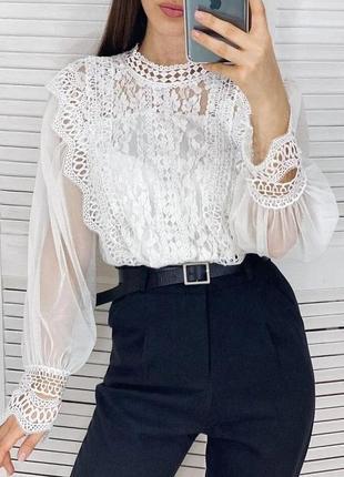 Блуза женская кружево