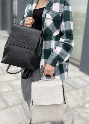 Рюкзак-сумка стильний та молодіжний з якісної екошкіри