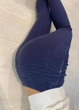 Теплые джинсы на флисе женские