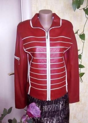 Стильная 100% кожаная мягкая куртка/куртка/косуха/бомбер/пиджак/жакет/пуховик