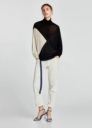 Шикарный свитер oversize оверсайз тонкой вязки от zara,p. m