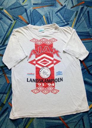 Винтажная футбольная футболка umbro ajax 1993-1994