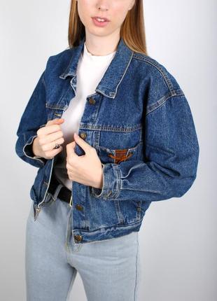 Настоящая винтажная джинсовка ретро multiblu trade mark