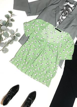 Нежная женская блуза / блузка под шифон с цветами next р.2