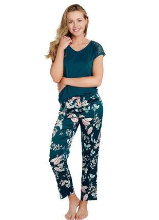 Домашний женский комплект зеленого цвета esotiq 38176 dearly