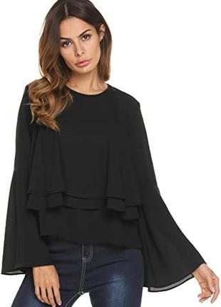 Рубашка чёрная блузочка  блузка missguided размер м