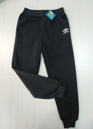 Тёплые подростковые спортивные штаны с начесом3 фото