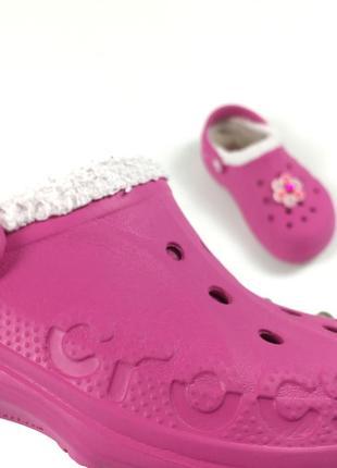 Детские тёплые кроксы crocs