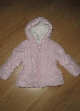 Теплая зимне-осеняя курточка на девочку 1-1.5 лет