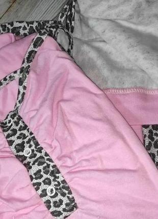 Комплект теплый халат на баечке и ночная рубашка сорочка можно для беременных и кормящих4 фото