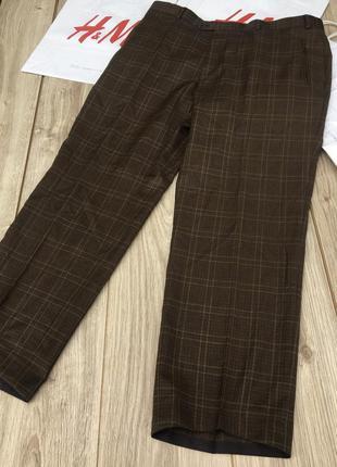 Стильные актуальные брюки штаны джинсы клетчатые в клетку тренд h&m zara asos шерстяные
