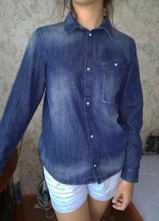 Рубашка джинсовая h&m 12 - 14 лет