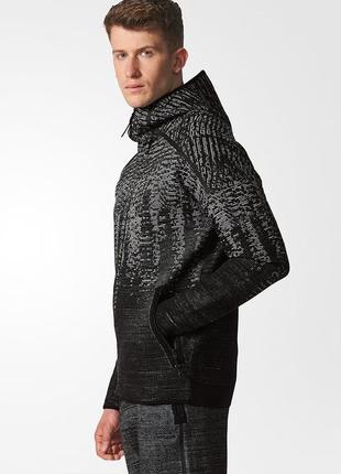 Худи свежие коллекции adidas ®zne pulse knit hoodie in black marl