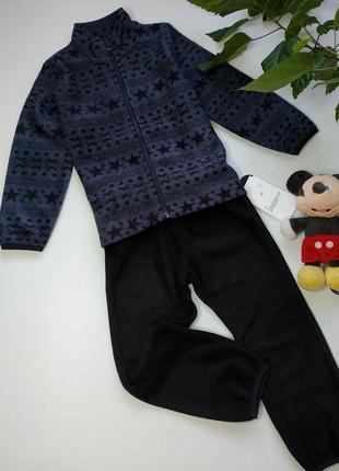Мягусенький флисовый костюм 3-5 лет.