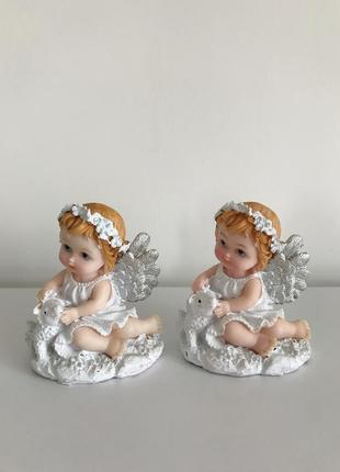 Набір, комплект статуэтка, ангел, статуэтка ангелочек.