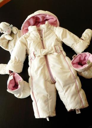 Chicco - красивий зимовий пуховий комбінезон chicco 62 в новому стані