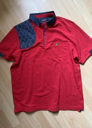 Красная футболка поло zara