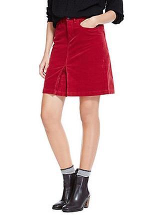 Стильная вельветовая юбка красивого цвета