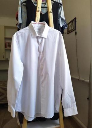 Женская белая рубашка блузка кофта на осень