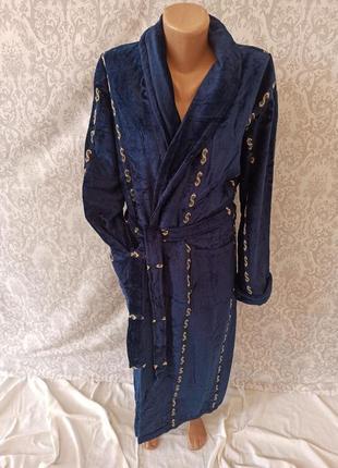 Мужской хлопковый теплый длинный халат, мужские хлопковые махровые халаты длинные турция