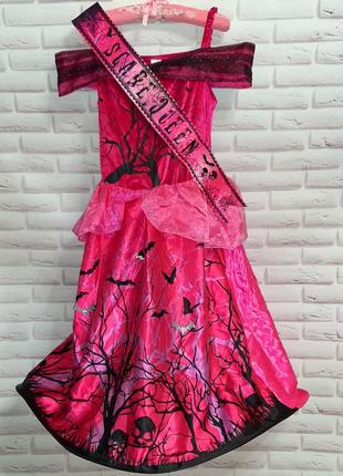 Платье на хеллоуин новогоднее праздничное эффектное