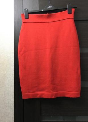 Трикотажная юбка -карандаш шерстяная итальянский бренд ciro esposito