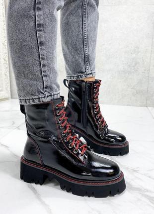 Ботинки натуральный лак