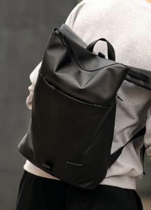 Новинка рюкзак roll  матова екошкіра для чоловіків та жінок