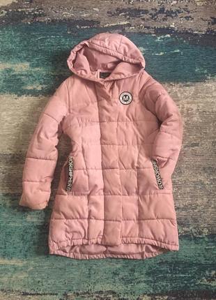 Демисезонная удлененная куртка пальто