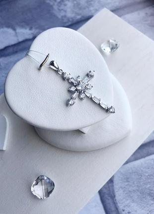 Красивый крест серебро 925 пробы