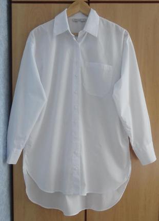Супер новая белая брендовая туника блузка рубашка хлопок