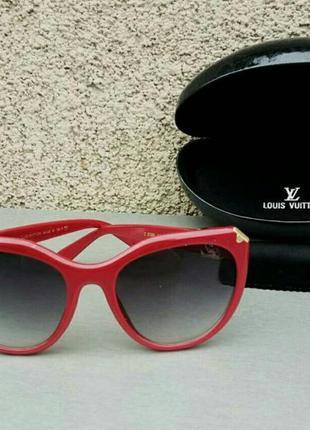 Louis vuitton очки женские солнцезащитные с градиентом в красной оправе