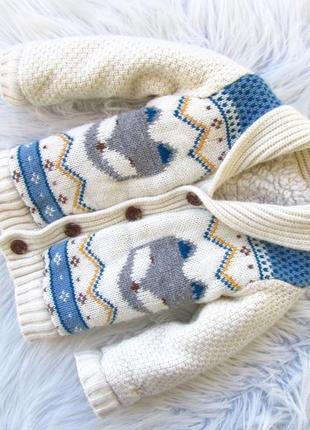 Стильная теплая  кофта свитер реглан кардиган жакет nutmeg