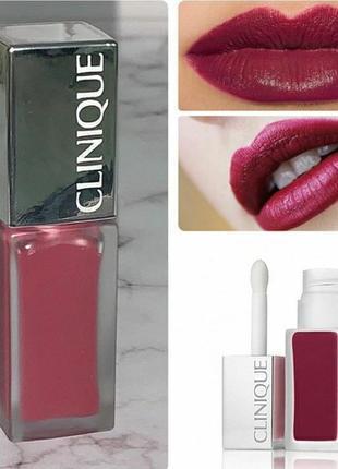 Матовый лак для губ clinique pop liquid matte lip color оттенок 07 boom pop