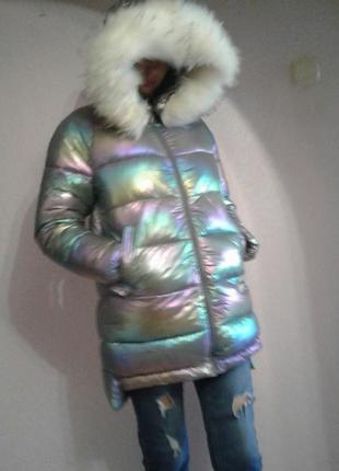 Зимняя куртка -полупальто
