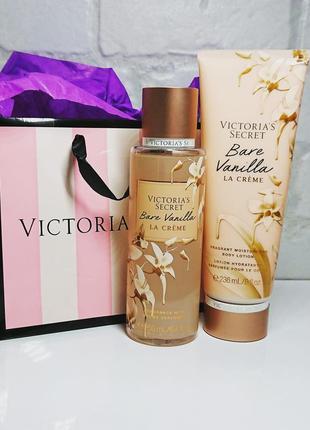 Парфюмированный спрей+лосьон victoria's secret bare vanilla la crema